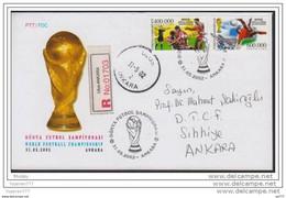 "OD-1305 2002 TURKEY WORLD FOOTBALL CHAMPIONSHIP F.D.C. """""""" RR """""""" - Covers & Documents"