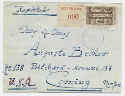 N° 302 SEUL LETTRE REC METZ RP MOSELLE 24.1.1936 POUR USA AU TARIF - 1921-1960: Modern Period