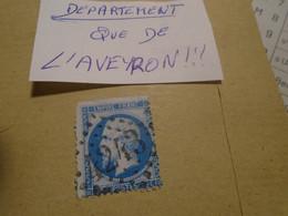 Departement  AVEYRON !!!! -  ( VILLEFRANCHE DE ROUERGUE)    -  IND/3    -   GC   4243   -   TP   N° 22 - 1849-1876: Klassik