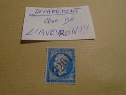 Departement  AVEYRON !!!! -  ( ROQUEFORT /S/SULZON )     -    GC    3201    -  IND/ 6      - TP N°22 - 1849-1876: Klassik