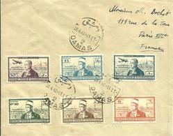 République N°260 à 263 Et P.A. N°94-95 -Cachet De DAMAS  -1942 - - Covers & Documents