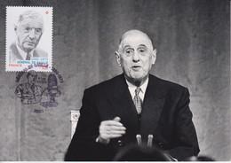 CM-Carte Maximum Card # 2020-France #Personnages Célébres#Général De Gaulle(1890-1970) Président De La République ,Paris - 2010-...