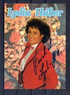 Lydia Huber. Carte Moderne Avec Autographe - Singers & Musicians
