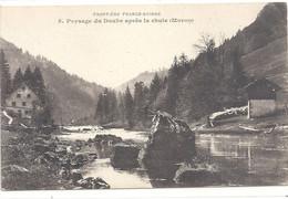 FRONTIERE FRANCO-SUISSE .5. PAYSAGE DU DOUBS APRES LA CHUTE ( MORON ) . CARTE NON ECRITE - Other Municipalities