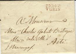 1811- Lettre De P.104/P/  TURIN  ( Eridan )  Pour Asti - 1792-1815 : Departamentos Conquistados