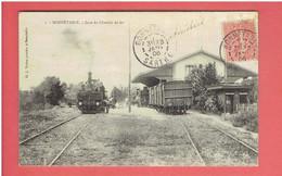 BONNETABLE 1906 GARE DU CHEMIN DE FER CARTE EN TRES BON ETAT - Bonnetable