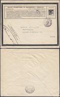 Belgique 1910 -Lettre Aff. Privé Institut International De Bibliographie De Bruxelles Vers Anvers.......(DD) DC-9921 - Otros