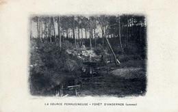ANDERNOS LA SOURCE CARTE PUBLICITE LES HUITRES RONGIER - Andernos-les-Bains