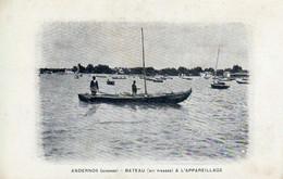 ANDERNOS  BATEAU CARTE PUBLICITE LES HUITRES RONGIER - Andernos-les-Bains
