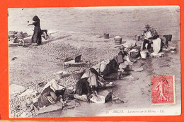 X13763 ♥️ ARLES (13) Laveuses Sur Le RHONE Lavandières Scène Lessive Lavage Linge 1905 à DEDIEU Rue Jacobins Pamiers - Arles