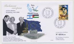 FRANCE => Env Affr 0,46E St Exupéry - Strasbourg Parlement Européen GA - 5/9/2000 - Paix Au Proche-Orient - Lettres & Documents