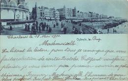 Ostende Oostende La Plage , Het Strand Kursaal  Oude Kaart! Anno 1900 !!!  Verzonden Naar Frankrijk  Barry 7496 - Oostende