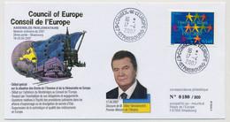 FRANCE => Env Affr 0,54E Traité De Rome - Conseil De L'Europe Strasbourg - 17/4/2007 - M. Viktor Yanoukovytch, Ukraine - Covers & Documents
