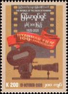 100 Years Of Myanmar Movies 1920-2020 (MNH) - Myanmar (Burma 1948-...)