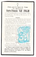 DP Pierre François Van Swalm ° Verrebroek Beveren-Waas 1854 † Bressoux Liège 1938 - Devotion Images