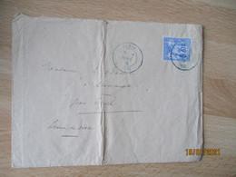 Lettre 1876 Couleur Bleu  Etoile 2 Sept   Sur Lettre Timbre Sage 25 C - 1849-1876: Klassieke Periode