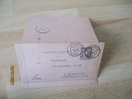 1890 Roubaix Daguin Double Jumele Sur Carte Lettre Sage 25 C - 1877-1920: Semi-moderne Periode