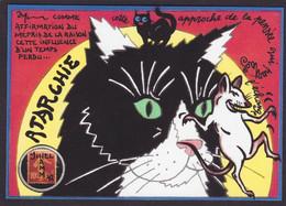CPM Timbre Monnaie Jihel Et Hamm Tirage Signé 30 Ex. Numérotés Signés Chat Cat Souris - Coins (pictures)