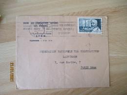 Timbre 6 Plus 4  Calmette 1 Er Congres International B C G Seul Sur Lettre - 1921-1960: Modern Tijdperk