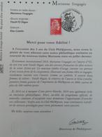 FRANCE - Marianne L'engagée 2018 Lettre Prioritaire  - Notice Philatélique - 2018-... Marianne L'Engagée