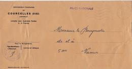 Enveloppe Administration Communale De Courcelles Milice Nationale - Cartas