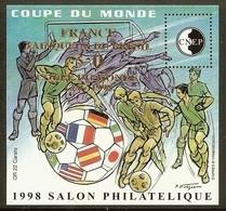 FRANCE Bloc CNEP N°27 (COUPE DU MONDE 1998 - SURCHARGE) - Cote 30.00 € - CNEP