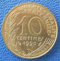 Pièce France 10 Centimes 1990 Lagriffoul  Marianne République Française Liberté Egalité Fraternité - D. 10 Centimes