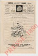 Gravure De 1880 Les Enfants En Nourrice Métier Pot De Chambre ?? Enfant Lit Berceau Pub Gallien Prince Charivari 241/19 - Sin Clasificación