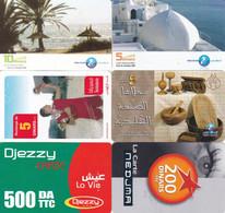 6 Télécartes TUNISIE Lot2 - Tunesien