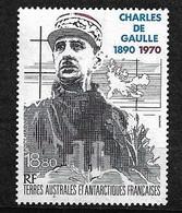 TAAF Poste Aérienne N°118 Centenaire Naissance Charles De Gaulle    Neuf * * TB= MNH VF Soldé  Le Moins Cher Du Site !! - Luchtpost