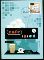 Mk Sweden Maximum Card 2006 MiNr 2525   Coffee Drinking. Steam Machine - Cartes-maximum (CM)