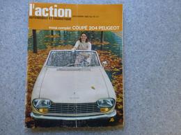 L'ACTION Automobile Décembre 1966 Coupé 204 PEUGEOT ; REV03 - Auto/Motorrad