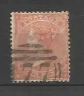 GRANDE BRETAGNE    1862  N°   25  Obl  (1 ) - Gebraucht
