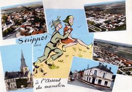 CPSM -  SUIPPES  (51)  à L' Assaut Du Mamelon -  Cachet Du 15éme Régiment D' Artillerie Lourde - Timbre FM - Sonstige Gemeinden
