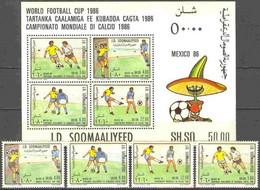 Soccer Football Somalia #388/91 + Bl 21 1986 World Cup Mexico MNH ** - 1986 – Mexico