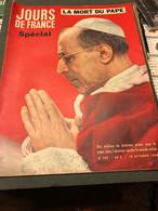Jours De France Du 18 Octobre 1958 - General Issues