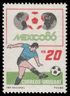 Soccer Football Uruguay #1733 1986 World Cup Mexico MNH ** - 1986 – Mexico