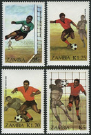 Soccer Football Zambia #360/3 1986 World Cup Mexico MNH ** - 1986 – Mexico