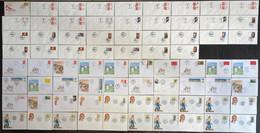 ⭐ France - FDC - Premier Jour - Lot De 74 FDC - Thématique Divers - 2001 à 2008 - 2000-2009