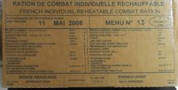 BOITE En CARTON De RATION MILITAIRE DE COMBAT INDIVIDUELLE 2008 RECHAUFFABLE - Menu N° 13 - Sous Blister - Other