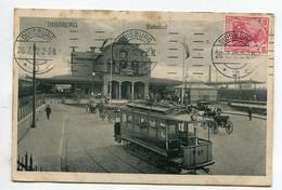 ALLEMAGNE DUISBURG Bahnhof Gare Des Voyageurs Tramway Electrique 1912 écrite Timbrée   D03 2021 - Duisburg