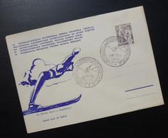 Yugoslavia 1955 Bosnia&Herzegovina Cover Special Cancel INTERNACIONALNA STUDENTSKA ZIMSKA SPORTSKA NEDELJA Skiing R213 - Brieven En Documenten