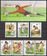 Soccer Football Vietnam #1664/70 + Bl 44 1986 World Cup Mexico MNH ** - 1986 – Mexico
