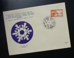Yugoslavia 1957 Bosnia&Herzegovina Cover Special Cancel TRECI SAMPIONAT JUNIORA ALPSKIH ZEMALJA PALE JAHORINA R231 - Brieven En Documenten