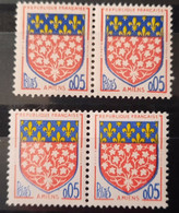 France Stamp 1962 N°1352 2 Paires Une Avec 2 Gros 0,05 + Un Normal Tenant Un Gros 0,05  ** TB - Ongebruikt