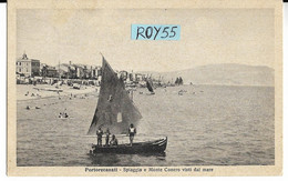 Marche-macerata-porto Recanati Spiaggia E Monte Conero Visti Dal Mare Di Portorecanati Animata Anni 30(f.picc./v.retro) - Other Cities