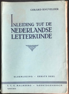 (417) Inleiding Tot De Nederlandse Letterkunde - Gerard Knuvelder - 1947 - Bloemlezing - School