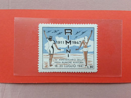 Erinnofili - Repubblica - Anniversario 1° Riunione Aviatoria Rimini - Nuovo ** + Spese Postali - 1946-60: Nieuw/plakker