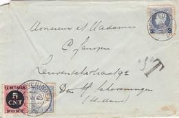Strafport Op Envelop 1926 , Met Nvph 47 En 66 - Impuestos