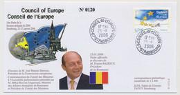 FRANCE => 0,55E Conseil Europe - Obl Idem Strasbourg - 25/1/2006 - M. Traïan BASESCU, Roumanie - Covers & Documents